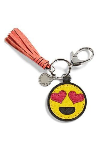 bag bag charm charm tassel emoji print love keychain bag accessoires
