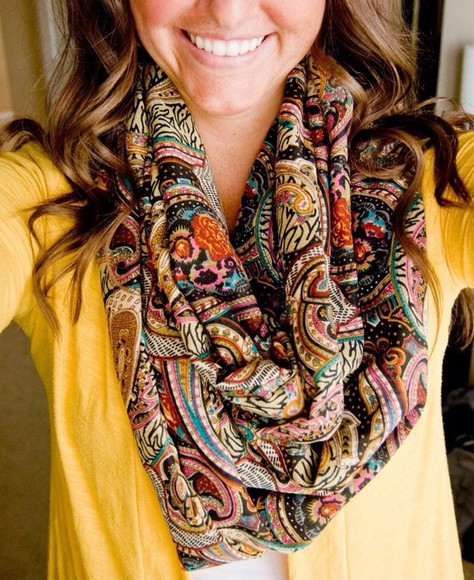 infinity scarf paisley