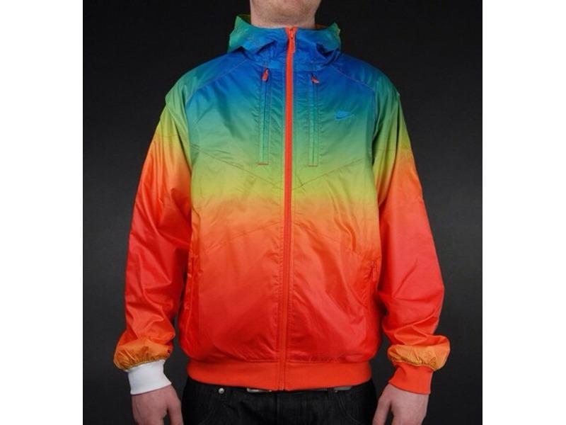 Full Zipped Rainbow Multicolor Windrunner (#207199) from SINSOMNIO ...