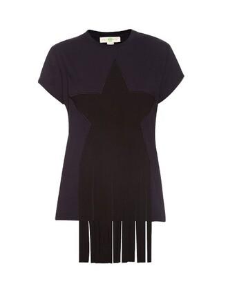 t-shirt shirt cotton navy top