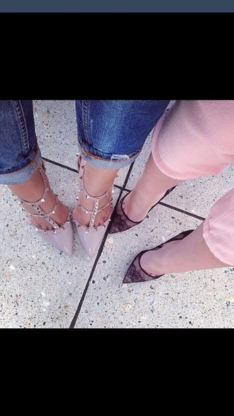 shoes high heel sandals high heels studded shoes prom shoes