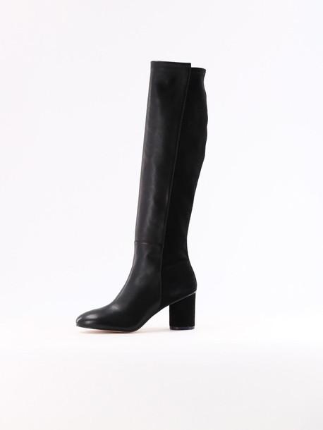 Stuart Weitzman Black Leather Boot