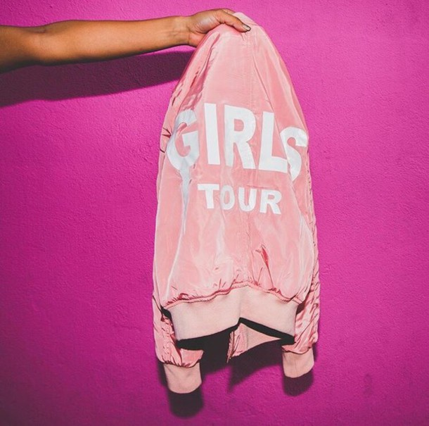 Jacket Tumblr Pink Cute Girly Tumblr Outfit Badass - Wheretoget