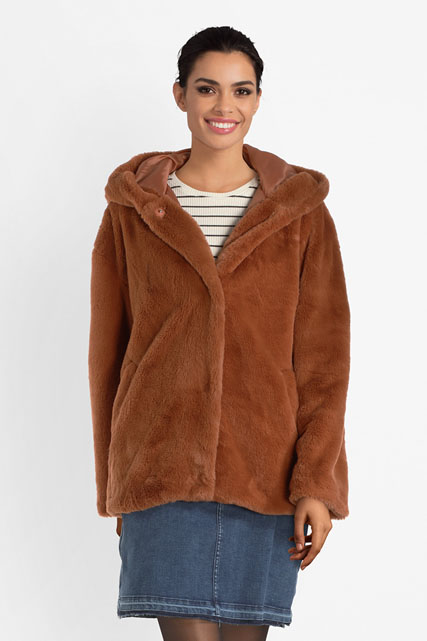 C est beau la vie manteau 54CB2MA901 marron femme | Des marques et vous