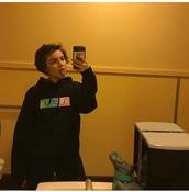 sweater,black,rainbow,emoji print,hoodie