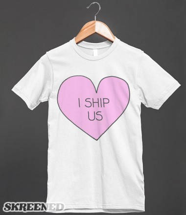I Ship Us | Fitted T-shirt | Skreened