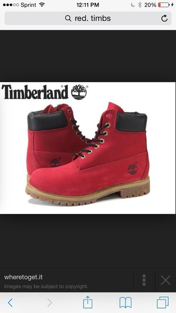 shoes red timberlands red timberlands