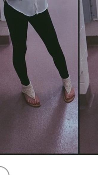 shoes sandles cream color