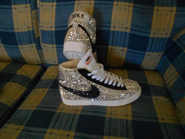 shoes nike nike rhinstone high tops
