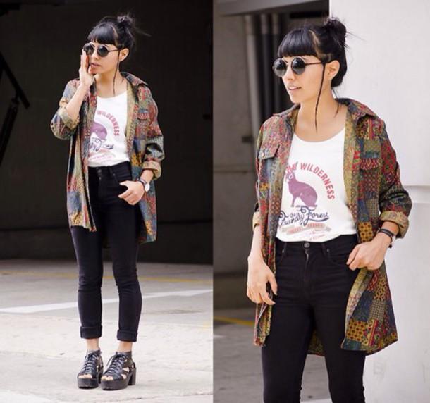 shirt vintage indie hipster