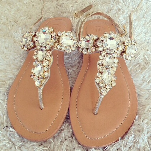 96ed67e92 Silver gemstone embellished sandals - sandals - shoes   boots - women