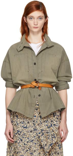 Isabel Marant etoile shirt khaki top