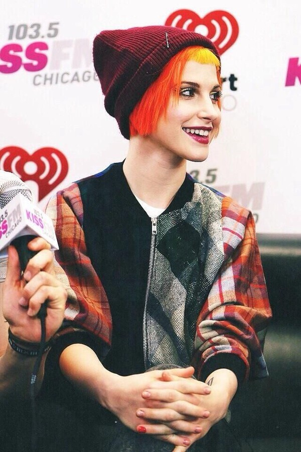 jacket hayley williams plaid jacket paramore