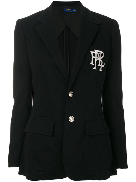 Polo Ralph Lauren blazer women classic cotton black jacket