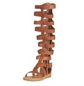shoes,light brown,knee high gladiator sandals