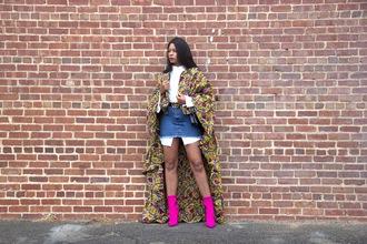 allthingsslim blogger shoes shirt belt skirt bag fall outfits denim skirt ankle boots