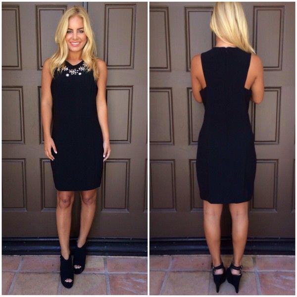 ustrendy dress ustrendy black dress little black dress little black dress high neck homecoming dress dress