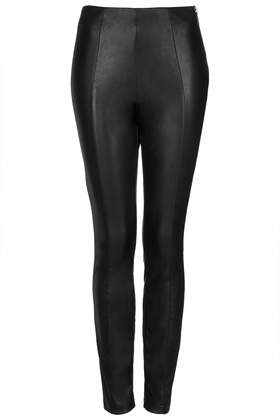 Super Soft Leather Look Skinny Trousers - Topshop USA