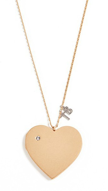 Tory Burch heart necklace pendant vintage gold jewels