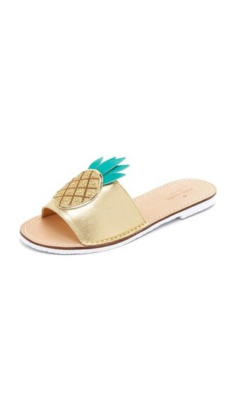 pineapple gold shoes