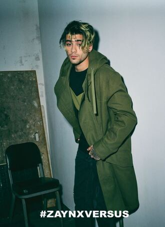 jacket zayn malik menswear mens jacket olive green