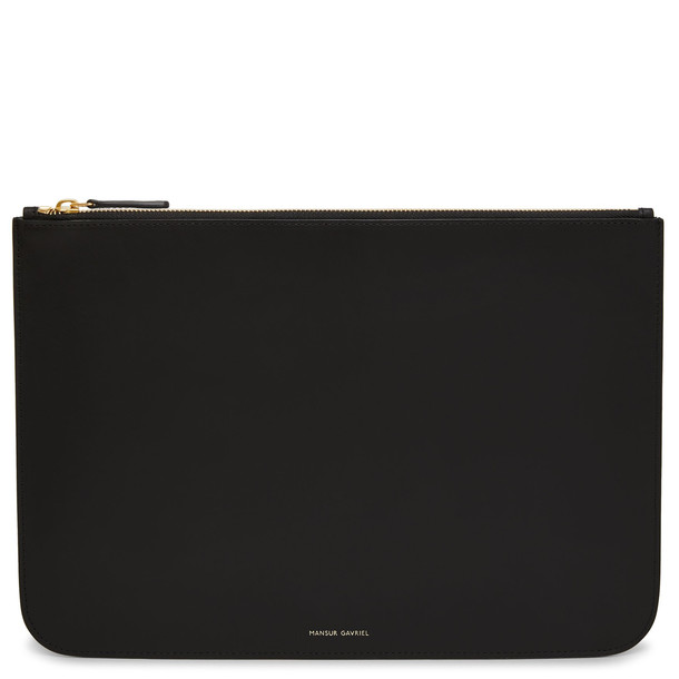 Mansur Gavriel Black Men's Oversized Attaché - Raw