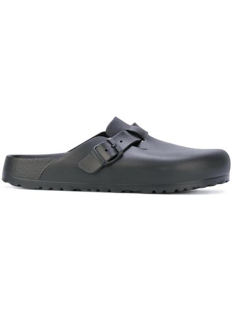 Birkenstock women plastic mules black shoes