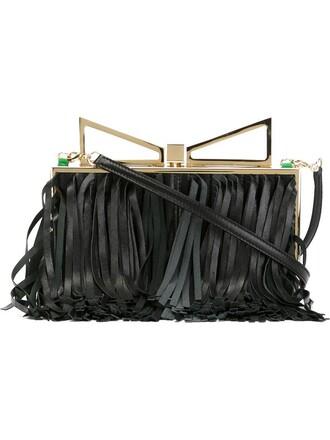 lady clutch black bag