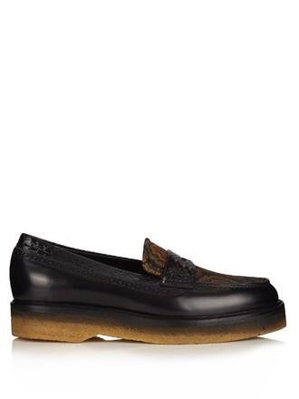 jacquard loafers black shoes
