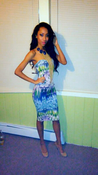 dress flowers dress colorful dress bodycon outfit