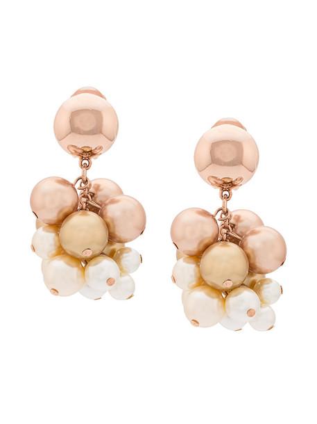 women pearl earrings nude jewels