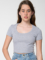 Cotton Spandex Jersey Crop Tee | American Apparel