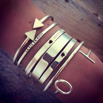 jewels la vie en rose gold jewelry boho wristbands bracelets stacked bracelets cuff bracelet