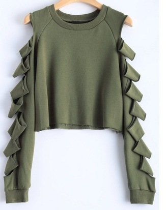 sweater olive green crop cropped cropped sweater cut-out