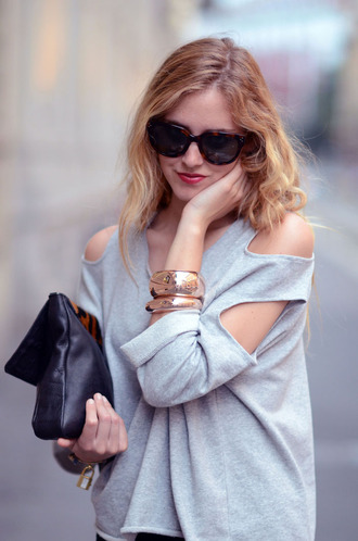 chiara the blonde salad grey sweater sweater