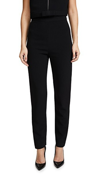 BRANDON MAXWELL pants cigarette pants classic black