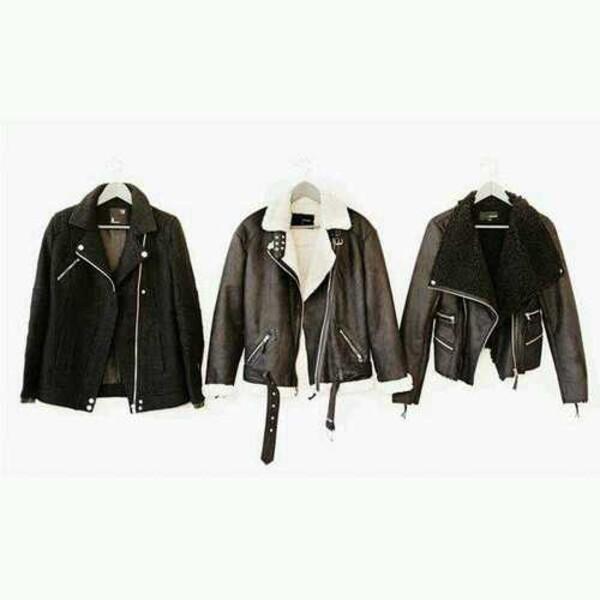Jacket: aviator sunglasses, aviator jacket, biker jacket, faux fur ...