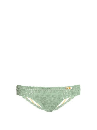 bikini crochet bikini mini hipster crochet light green swimwear