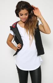 jacket,vest,puffer vest,fashion,black