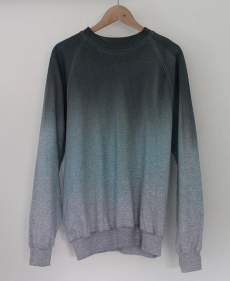 ombre hipster grunge sweater/sweatshirt gradient ombre sweater grey sweater