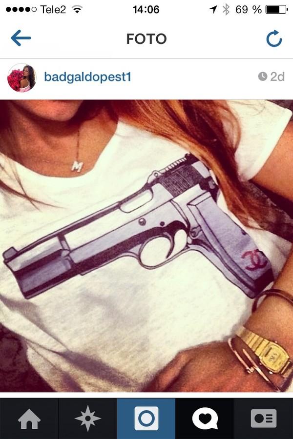 t-shirt shirt gun