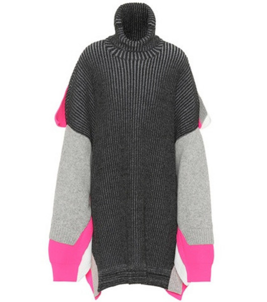 Balenciaga Wool-blend turtleneck sweater in grey