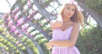 dress cute girly hipster boho purple pink mauve romper