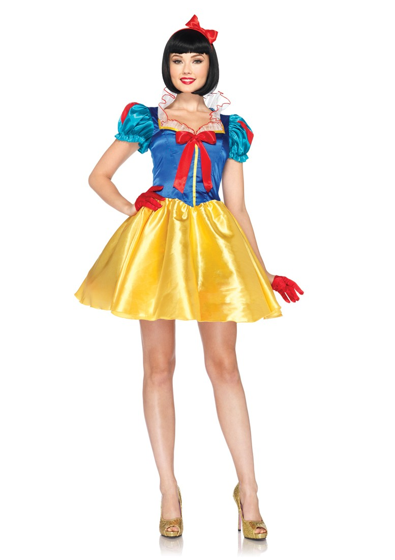 Blue Yellow 2 Piece Classic Snow White Hasbro Costume