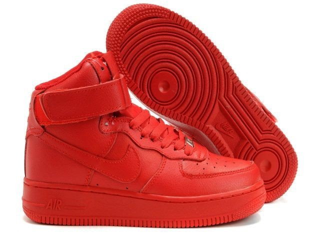 Nike air force 1 high 07 womens leather all red