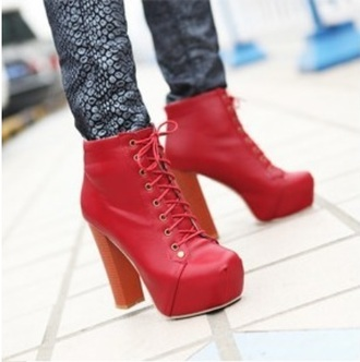 shoes red jeffrey campbell lita high heels red boots