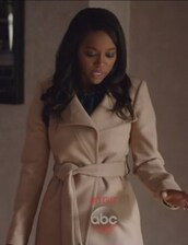 coat,belted,how to get away with murder,Aja Naomi King,taupe,Michaela Pratt