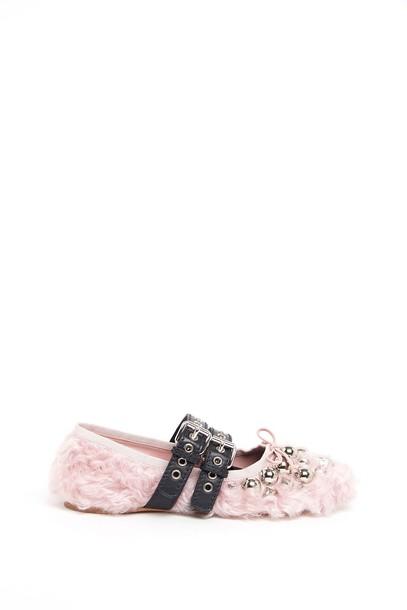 Miu Miu ballet flats ballet flats pink shoes