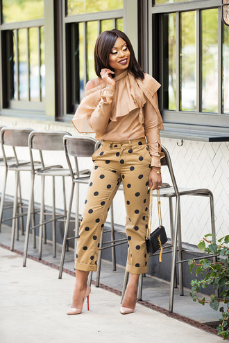 jadore-fashion blogger pants top shoes bag make-up