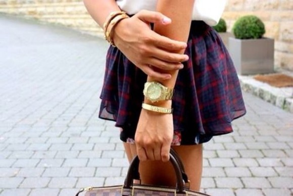 skirt tartan tartan skirt red